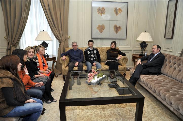 Encuentro de la nueva junta directiva de la FRVS con Pedro Sanz