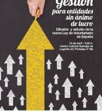 """Taller de """"Gestión para entidades sin ánimo de lucro"""" el 15 de abril"""