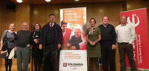 Se presenta la iniciativa de la X Solidaria con el inicio de la campaña de la renta